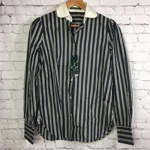 Lauren Ralph Lauren Stripes LS Button Down Shirt